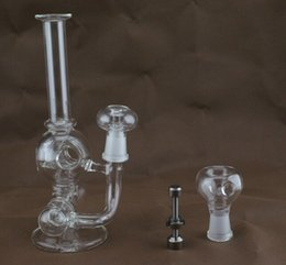 Wholesale 2015 aliens model ET glass bong quot height glass Inline to Donut Oil Rig Percolator bubbler water smoking pipe water mini glass bong