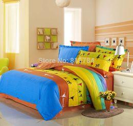 Wholesale Satin Sheet Set Free Shipping - Bedding set   Bedclothes  Jacquard Cotton Satin Noble Silk Bedding  High Quality 4 PCS Bedding sets Bed Sheet Free shipping