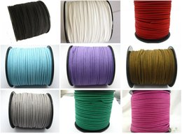 100 Yards Faux Suede Flat Leather Cord Lace String 3mm