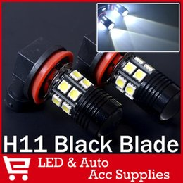 2017 bulbe led caché 2 X xénon HID blanc H11 Super Bright 5050 SMD 12 LED + crie avec Parking Day Objectif voiture Brouillard Courir Lampe Bulb budget bulbe led caché