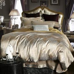 Wholesale Luxury jacquard satin cotton silk BEDDING bedding set duvet cover SET bed sheet comforter set
