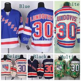 New York Rangers Hockey Jerseys #30 Henrik Lundqvist Jersey Home Blue Road White Alternate 85th Navy Blue Winter Cream Jerseys