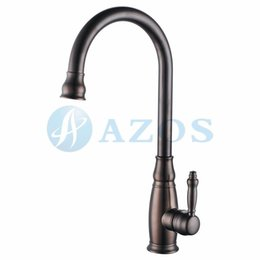 Wholesale Swivel Hose Spray Single Handle Nickle Oil rubbed Bronze Color Antique Brass Deck Mounted Mixers Furnitures Kitchen Sink Taps