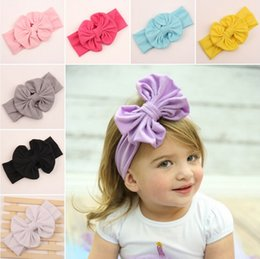 Wholesale 2015 New Infant Cotton Bow Headbands Girl Headband Children Hair Accessories Newborn Bowknot Hairbands Baby Photography Props Color