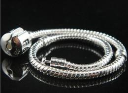 Wholesale New snake Bracelet chain logo plating silver bracelets DIY chain fit European beads Love logo Vogue