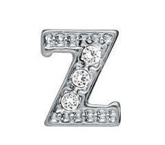 "20pcs lot rhinestone Silver Alphabet Letter "" Z "" Fit For Memory Glass Living Floating Locket Jewelry Making"