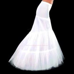 Falda de crinolina sirena en Línea-Tamaño más barato de alta 2.015 Sirena de novia Enaguas 2 Hoop crinolina para la boda vestido de novia de falda Accesorios Slip Con tren CPA214