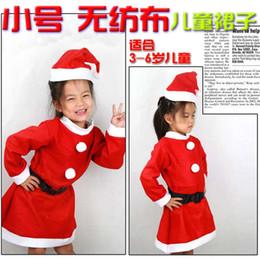 Pequeñas faldas de los niños en venta-Pequeño falda no tejido para niñas de decoración de Navidad de Santa Claus Navidad suministros al por mayor de ropa de niños