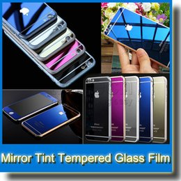 Mirror Tint Screen Protector Tempered Glass Color Mirror Real Tempered Glass Film Screen Protector for iPhone 6 Plus 5 5S Front+Back
