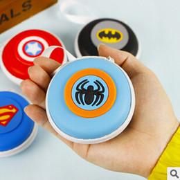 À double bourse de portefeuille à vendre-L'arrivée de nouveaux Purse Nouveauté Super Hero Coin Silicone Wallet Key double écouteur Organizer Box JIA256