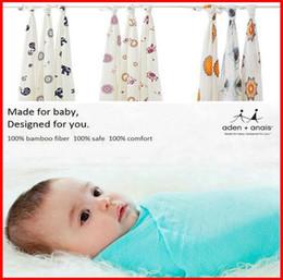 Размеры одеяло Онлайн-Fedex Корабль 2 015 Аден Анаис Многофункциональный новорожденных Пеленальный Большой размер ребенка полотенцем 100% бамбук муслин пеленает детские одеяла 120x120cm 47 * 47inch