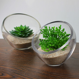 Simple Modern Fresh Transparent Beveled Glass Vase Floral Fashion Home Decor Furnishings Ornaments Trumpet Free