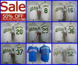 Wholesale 2015 New BIG Discount OFF Baseball Oakland Athletics Jersey Lowrie Cespedes Reddick Donaldson Samardzija Norris Moss Embroidery Log
