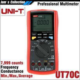 Wholesale UNI T UT70C conductance multimeter max min avg duty cycle with multimeter test leads pocket UNI T UT C