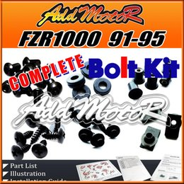 Wholesale Addmotor Pieces Set Black Complete Fairing Bolt Kit Body Screws Fasteners For Yamaha FZR1000 FZR Y91S
