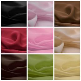 Wholesale 5Yard D Chiffon Wedding Dress Fabric Inch Width Custom Length Swatch Sample Chair Sash Material Chiffon Fabric Sheer