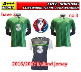 Wholesale Whosales Euro Cup Soccer Jerseys Ireland Jerseys Republic of Ireland Football Shirt Home KEANE Uniforms Free Shippinng Top Quality