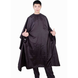 Nylon Hair Cutting Cape With Pocket Hole Salon Hair Cape Large 160X140CM Waterproof Black Purple White Color Mixed Order DHL Free Shipment