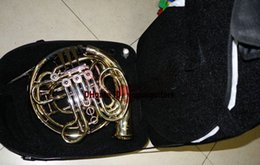 Wholesale Advanced key double French Horns Golden With Case