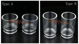 Top Quality Glass Tobh ATTY Drip Tip Chuff Top Cap POM Best E Cig Wide bore for 22mm Tobh Atty RDA RBA mod Atty Plume Veil Atomizer