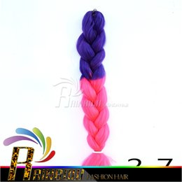 Ombre Synthetic Braiding hair Folded 24inch 100g Ombre two tone color Jumbo braid hair extensions more colors