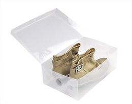 Wholesale shoes boxes with a lid Storage Boxes Bins cm transparent plastic shoes box high heels flat shoes home organizer