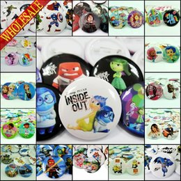 Wholesale Free DHL Inside Out Despicable Me Avengers Star Wars Cartoon Buttons Pins Badges Round Brooch Badges mm in Diameter Birthday Gift