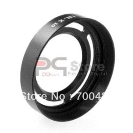 Wholesale LH X10 Lens Hood mm Diameter Metal Adapter Ring For Fujifilm FinePix X10 Camera Lens Hood