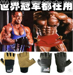 Wholesale-2015 Hot Sell High Quality Equipment Body Building Training Fitness Weight Lifting Workout Exercise Slip-Resistant Schiek Gloves