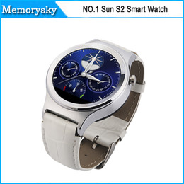 Wholesale Bluetooth Watch Smart Watch NO Sun S2 Round screen for Samsung HTC Xiaomi Huawei iphone s iOS Android Smartphone in stock