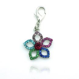 Última moda flotante encanto aleación de langosta broche encantos flor encantos accesorios joyería desde broches para los encantos fabricantes