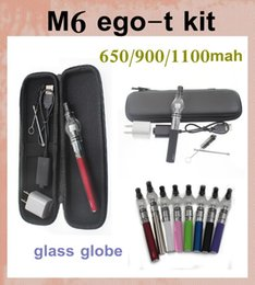 Hottest dome wax vaporizer pen dome vaporizer glass globe starter kit glass dome vaporizer for E cigarette M6 EGO-T Zipper case CA0007