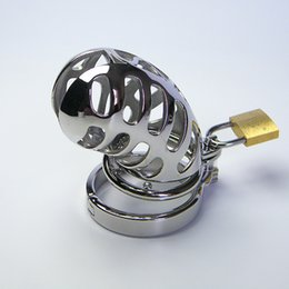 Stainless steel male chastity device Metal chastity lock device 2018 the lastest design for male hot selling