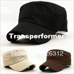 Wholesale Korean style New Fashion Men Women Ladies Boy Unisex Flat Hat Army Cap Service Cap Baseball leisure Cap Sun Hat RJ1725