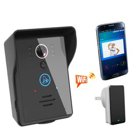 Wholesale 2016 New Rainproof Touch Button Motion Sensor WIFI Video Door Phone IR Intercom Doorbell with taking picture and recording unlocking