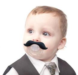 Wholesale dhl fedex Mustache Baby Boy Girl Child Dummy Pacifier Orthodontic Nipples Beard