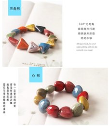 Wholesale Jingdezhen manual original ceramic jewelry bracelet style restoring ancient ways Men and women lovers national wind