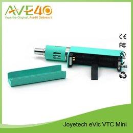 Promotion gros joyetech Plus nouveau 100% original 2015 Vente en gros Joyetech eVict VTC Mini 18650 Batterie 60W puissant TC mod Cyan Noir Blanc