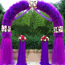 Wholesale Wedding Arch Wedding Decorations Props Way Garden Quin m m Eanera Party Flowers Balloon Decoration White Metal Spend Circular Arch Doo