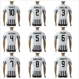 Wholesale 15 Home Away rd Buffon Pogba Morata Pirlo Mandzukic Dybala Soccer Jersey Futbol football uniform shirt