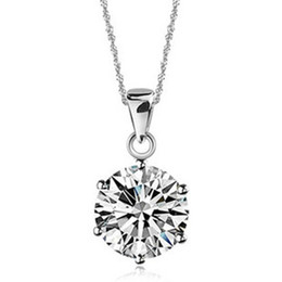 Wholesale White Direct Selling Crystal Pendants Necklace for Women Jewelry Bisuteria Rhinestone for Pingente Joyeria Chain Valentine Present N321