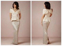Wholesale Short Peplum Bridal Dresses - Plus Size Lace Off Shoulder Mother Of Bride Dresses Peplum Sheath Floor Length Bridal Wedding Dress Party Evening Gowns Cheap 2015