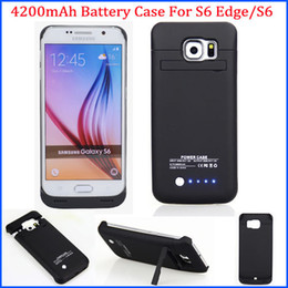 Wholesale New mAh Portable Battery charger External Backup Battery case for Samsung galaxy S6 Edge G9250 S6 G9200 power bank with stand holder