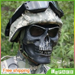 Wholesale Death Skull Bone Airsoft Paintball BB Gun Full Face Protect Safe Mask M02