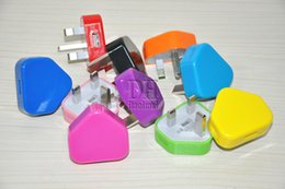 Wholesale Colorful UK Wall Charger AC Power Adapter for Android Tablet pc Pins UK Plug USB Charger