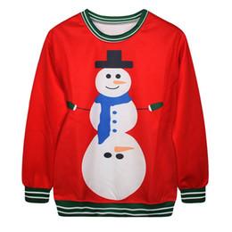 Wholesale Christmas Couple Hoodies - Printing Snowman Sweatshirt Coat Lovers Christmas Moletom Fashion Casual Matching Couple Graphic Pullover Hoodies 2015 FG1511