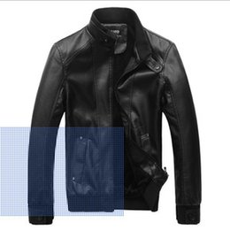 Wholesale Fall New Style Velvet collar leather motorcycle jacket with paragraph Sato