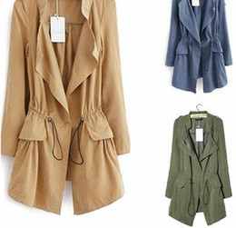 2014 New Fashion Autumn and Winter Women Trench High Quality Full Sleeve Temperament Thin Women Trench Coat NM387