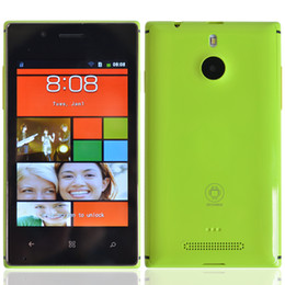 Wholesale Windows Menu Android Smartphone L925 SC6820 Single Core Quad Band GHZ G RAM Screen Dual SIM Unlocked Cheap Colorful Cell Phone