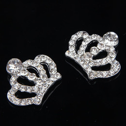 Wholesale-Wholesale 30mm*25mm Rhinestone Crown rhinestone Flatback Embellishment For Wedding Accessories 100pcs lot